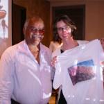 Após a palestra foram sorteadas camisas feitas pelos alunos do Vida Real: Tião e uma das ganhadoras