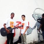 Alunos do Instituto na inauguração da exposição GRAFITARTE Vida Real no Museu da Maré. 12 de julho de 2012