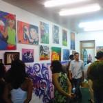 Primeira exposição de artes no Instituto Vida Real dos quadros feitos pelos alunos, maio de 2011