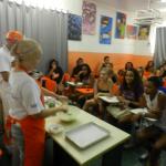 Aulas de culinária Vida Real no curso COZINHA BRASIL em parceria com o SESI, 12 de junho de 2012