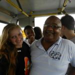 Tião e aluna do Vida Real no passeio ao Planetário da Gávea, 19 de junho de 2012