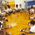 Início das aulas do Maternal I em fevereiro de 2011: adaptação das crianças.