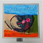 """O quadro doado:  """"As Crianças do Canto Feliz"""" por Romero Britto (2010)"""