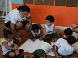Adaptação do Maternal I - primeira semana de aula 9 de feveriero de 2012
