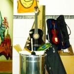 Os instrumentos comprados e doados!