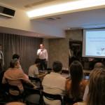 João Felipe, membro do Move Rio, fazendo a introdução