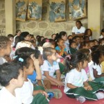 A peça prendeu a atenção de todas os alunos do Cantinho!