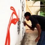 Na inauguração teve grafite em tempo real!