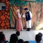 Rapunzel com o príncipe
