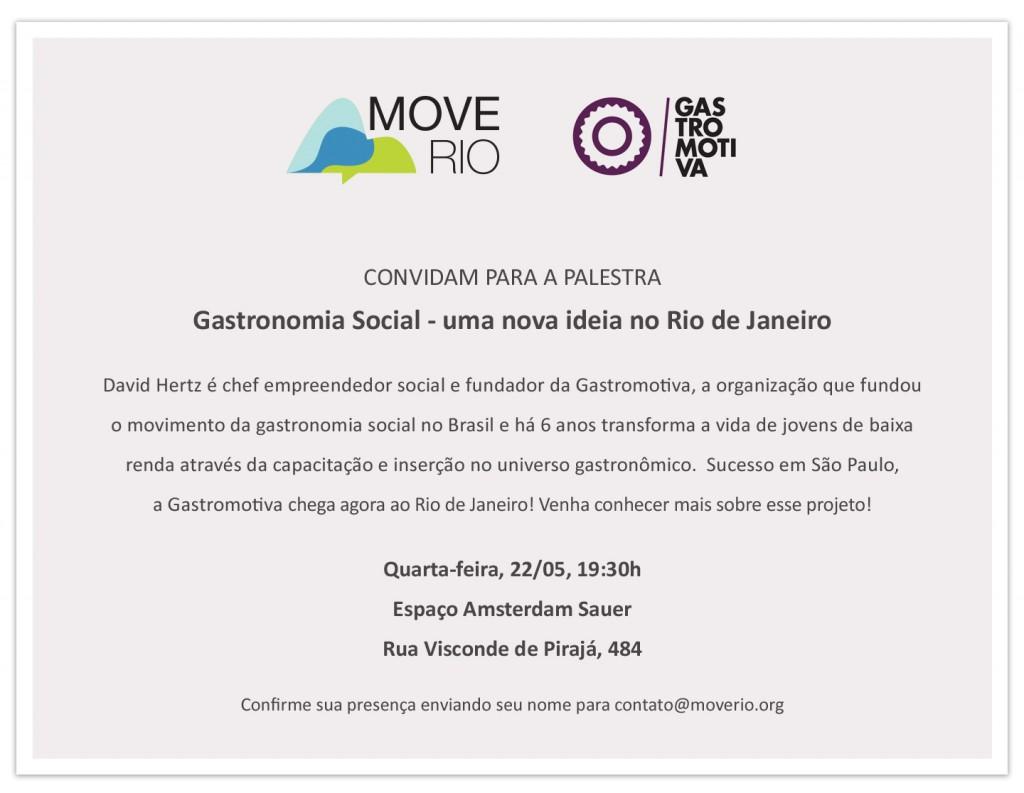 Ciclo Palestra Move Rio 22.5