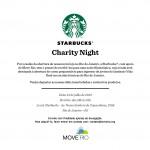 Convite Charity Night Starbucks e Move Rio.